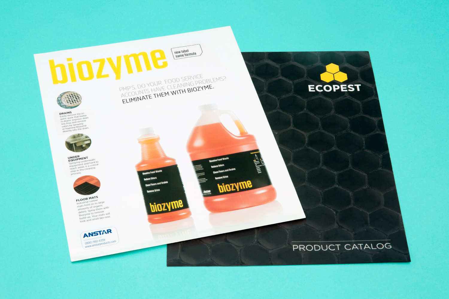 Biozyme branding and packaging design.