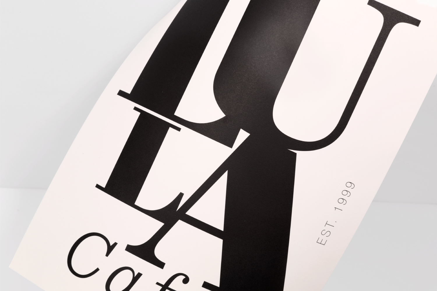 Lula Cafe Chicago menu design.
