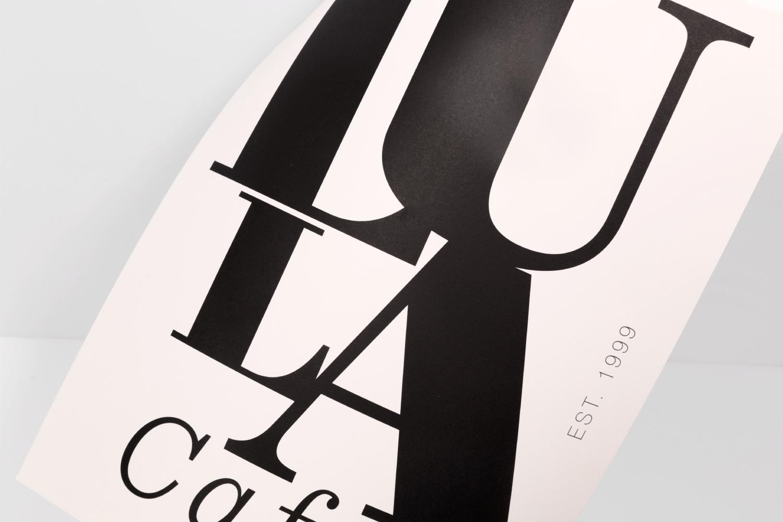Lula Cafe Chicago menu design.