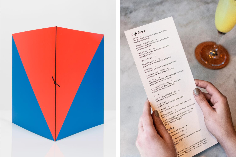 Lula Cafe menu design.