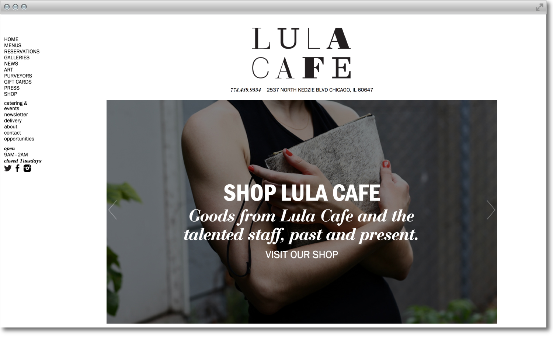 Lula Cafe branding and web design