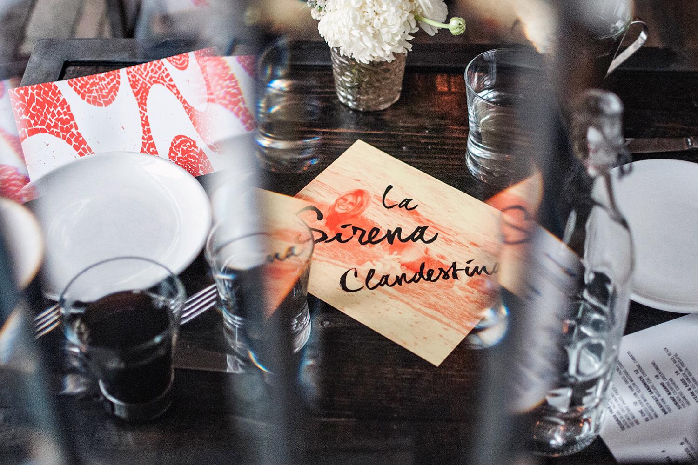 La Sirena Clandestina Chicago menu design.