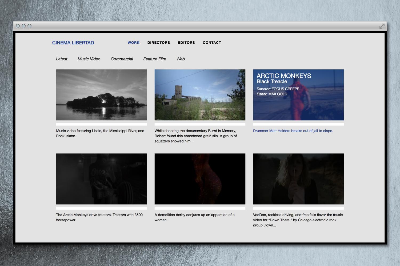 Cinema Libertad Chicago branding & website design.
