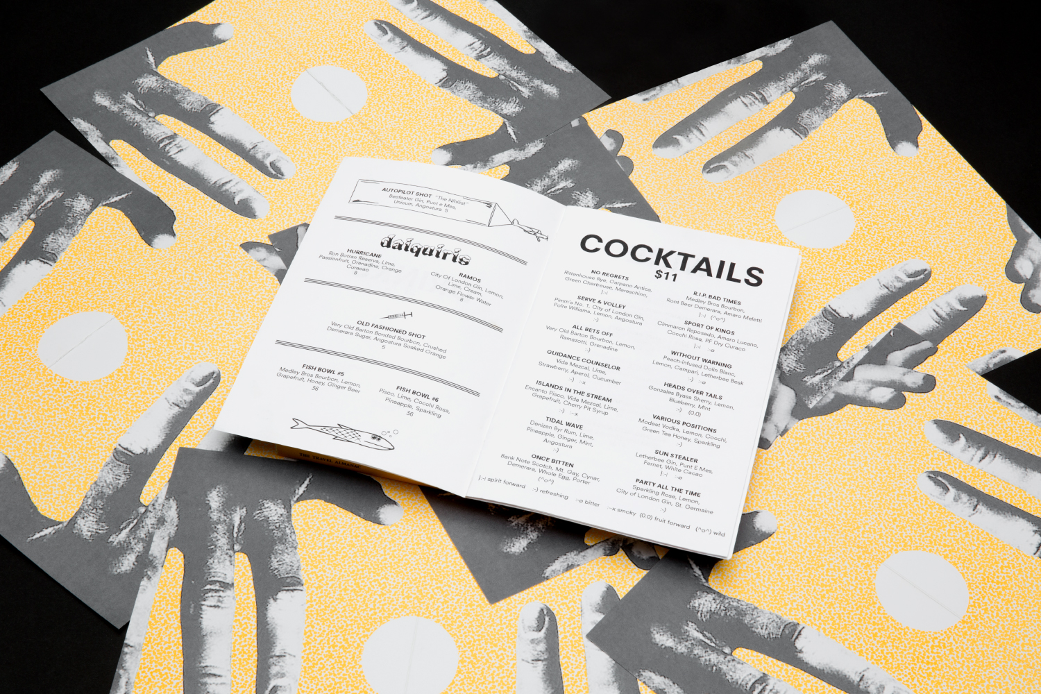 Analogue Chicago restaurant menu design.
