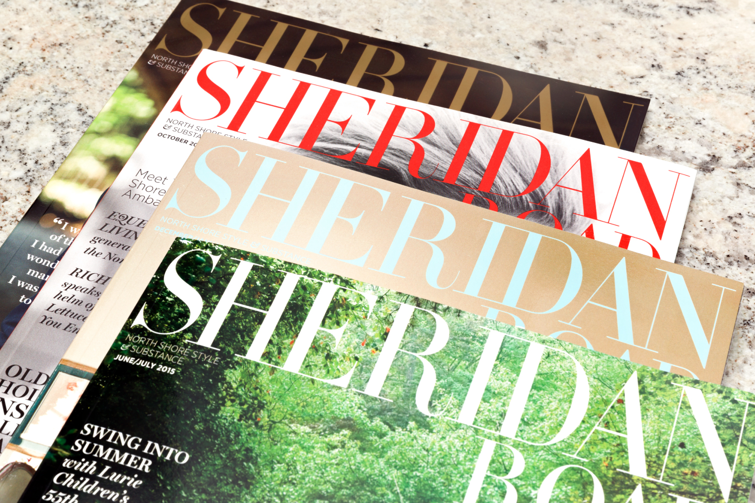 Sheridan Road magazine art direction and design.