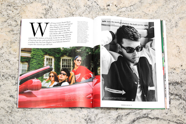Sheridan Road magazine design.
