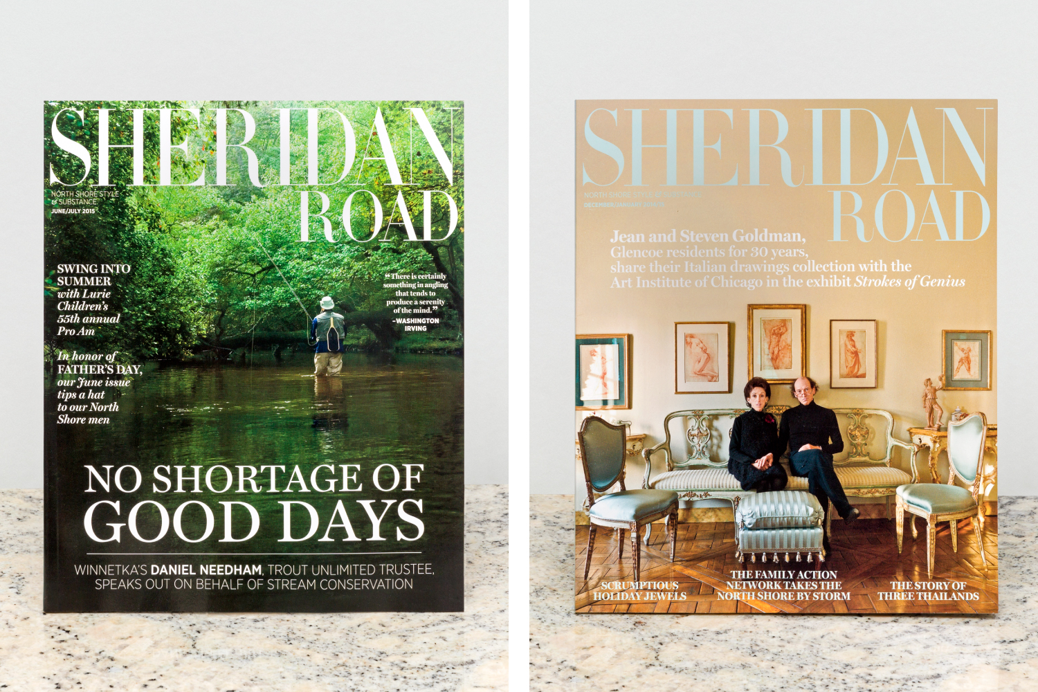 Sheridan Road magazine design and art direction.
