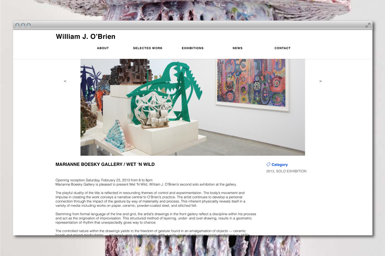 William J. O'Brien artist graphic design and web design.
