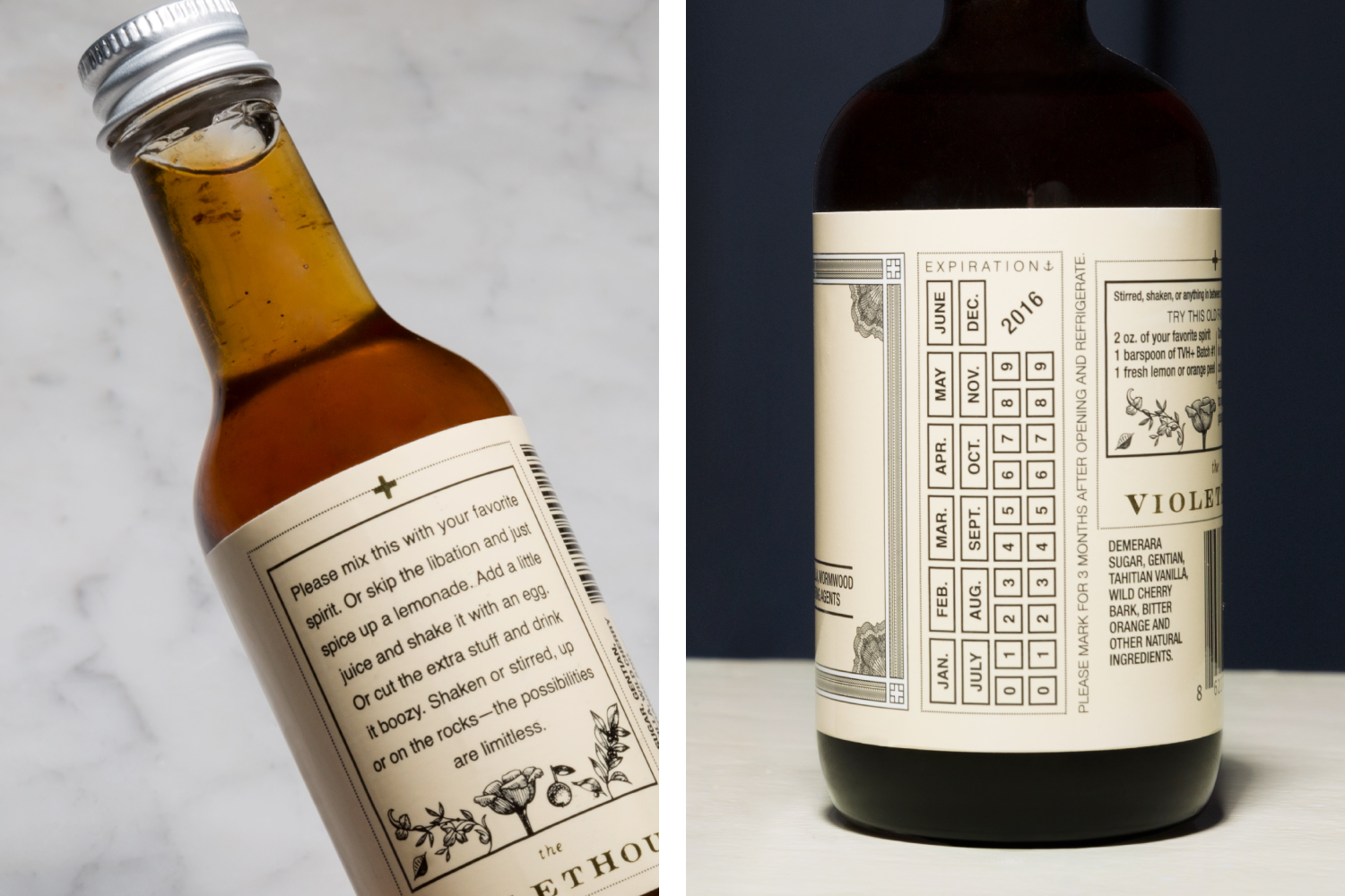 The Violet Hour + graphic design and packaging design.