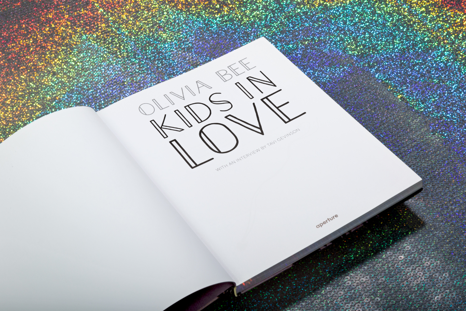 Olivia Bee: Kids In Love book design for aperture.