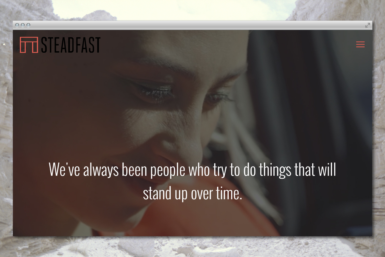 Steadfast Productions branding & website design.
