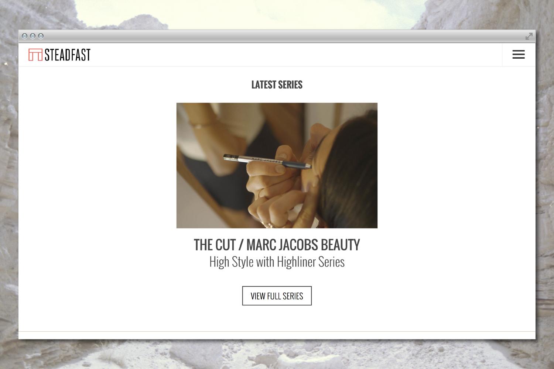 Steadfast Productions studio branding & website design.