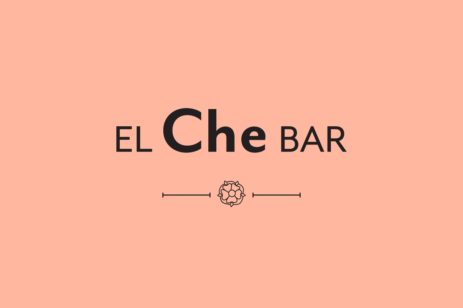 El Che Bar Chicago restaurant branding.