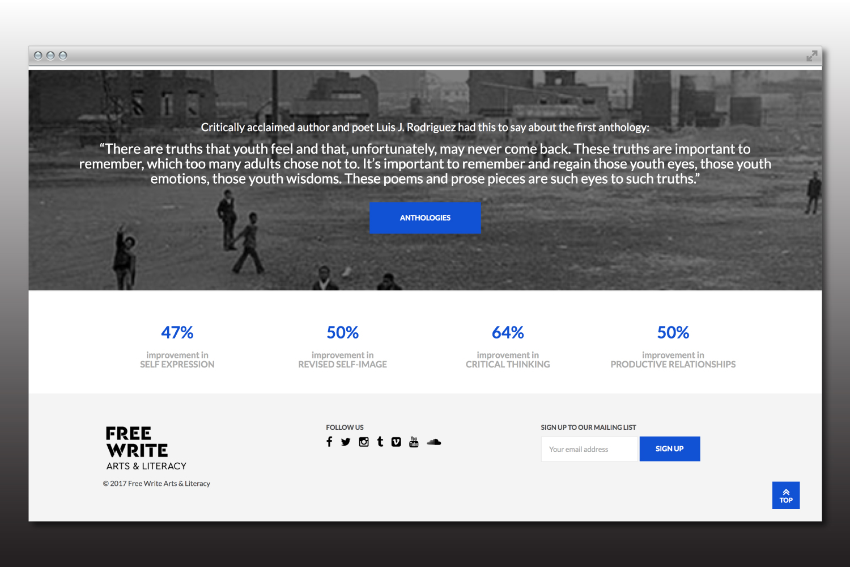 Free Write Chicago nonprofit branding and website design.