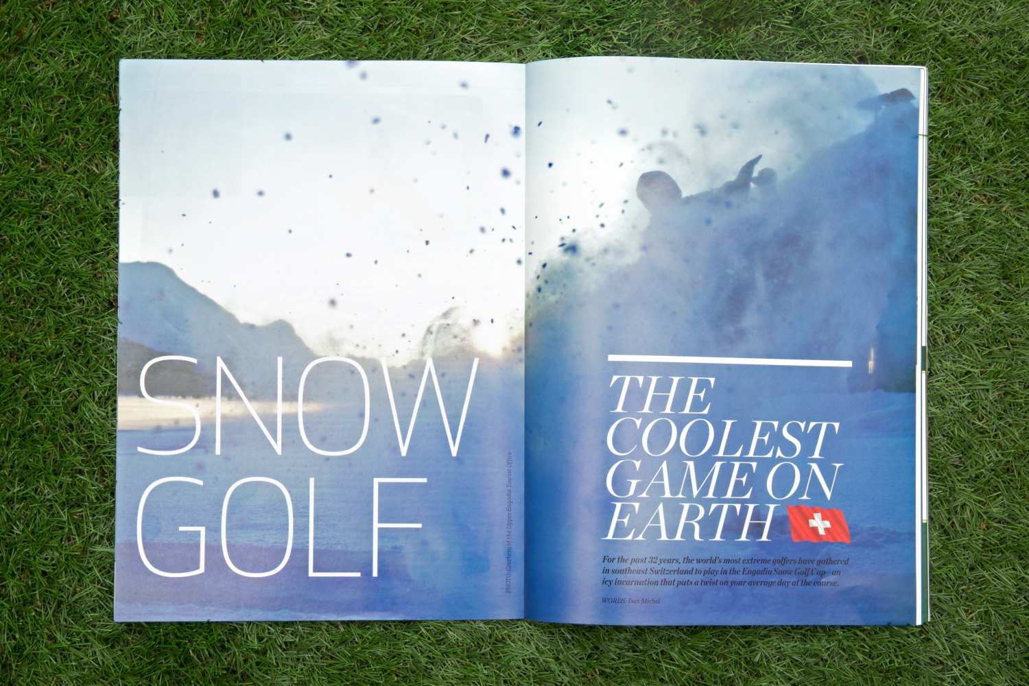 Avid Golf Lifestyle magazine art direction and design.