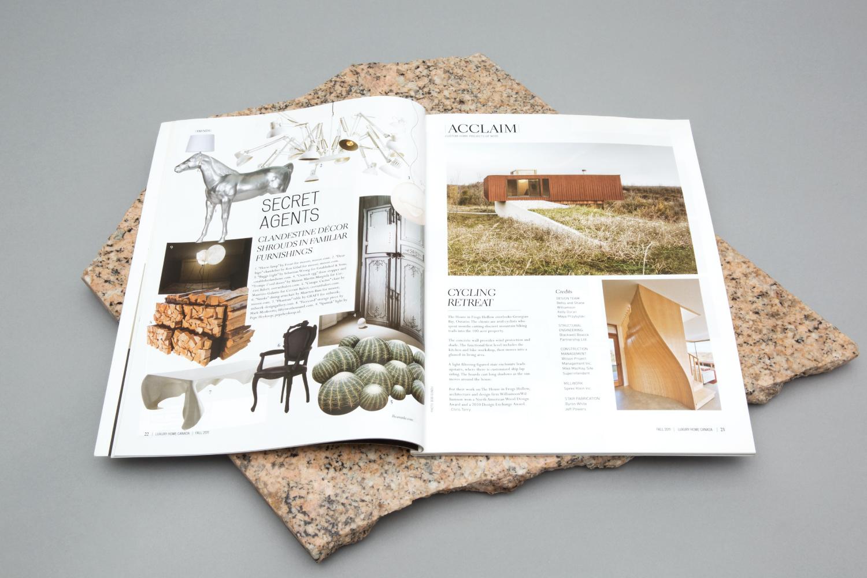 Luxury Home Magazine art direction and design.