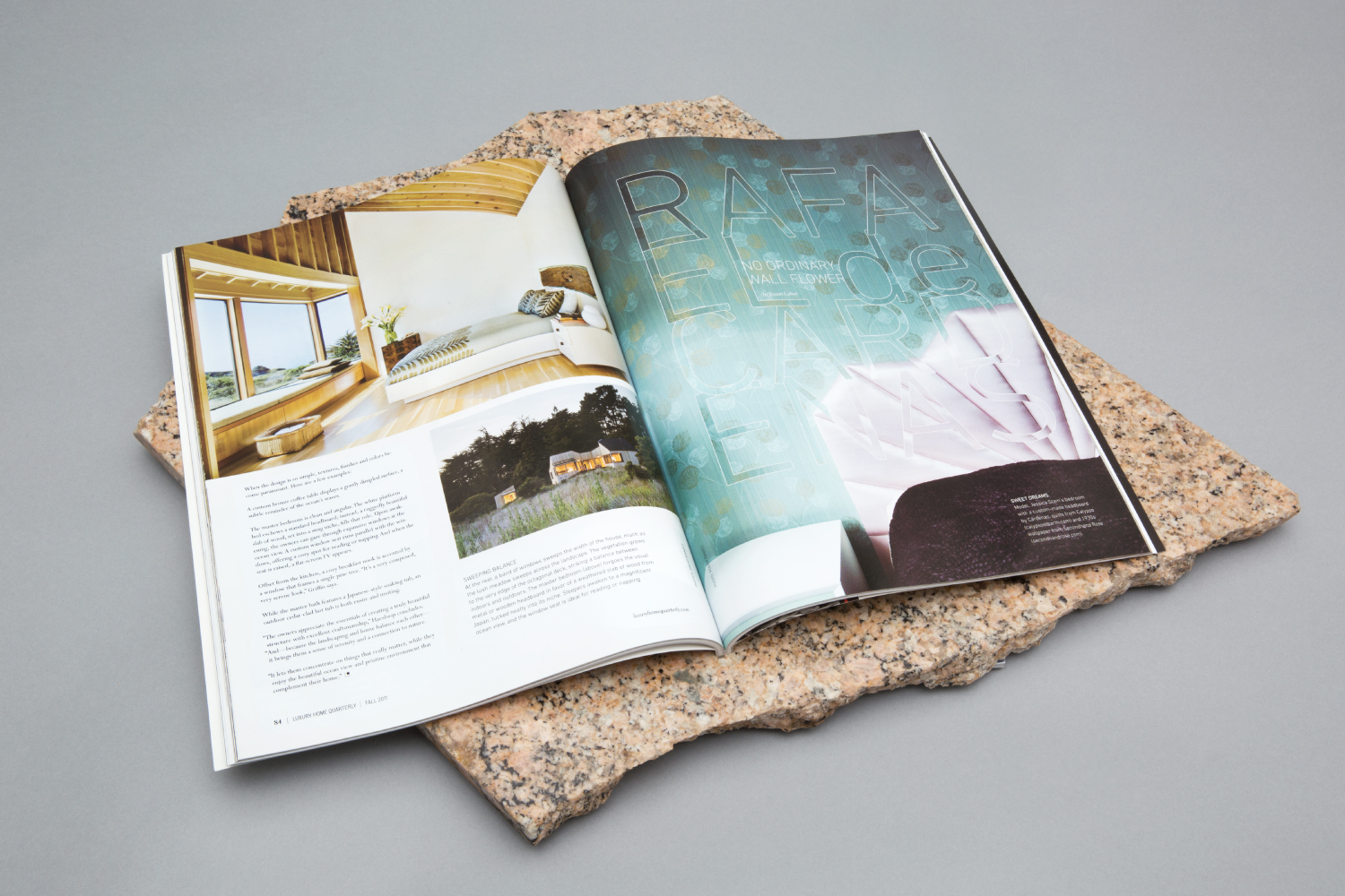 Luxury Home Magazine art direction and design.
