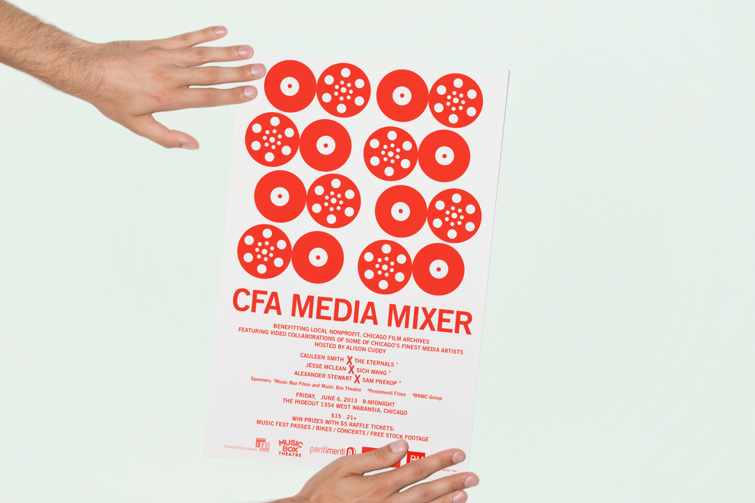Chicago Film Archives Media Mixer poster design.